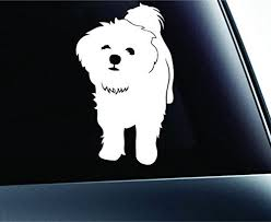 Maltese Symbol Decal Paw Print Dog Puppy Pet Family Breed Love Car Truck Sticker Window White Expressdecor Http Www Small Dog Tattoos Dog Icon Dog Drawing