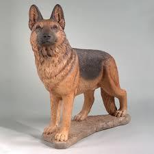 german shepherd statue 31 5 stone