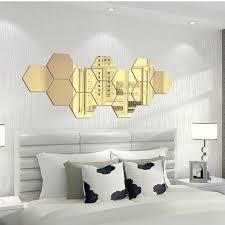 36pcs 3d Mirror Hexagon Vinyl Removable Wall Sticker Decal Home Decor Art Diy Wall Decals Wish