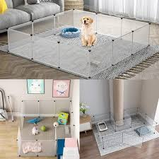 Diy Pet Dog Playpen Small Animal Cage For Guinea Pigs Puppy Hamster Cat Portable Fence Outdoor Indoor 4 6 8 10panels Each Panel Size Is 13 8 X13 8 Wish