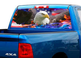 Product Bald Eagle Us Usa Rear Window Decal Sticker Pick Up Truck Suv Car