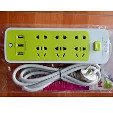 GIÁ GỐC] Ổ cắm điện đa năng 6 lỗ tích hợp 3 cổng USB chống giật đa năng  giảm chỉ còn 101,000 đ