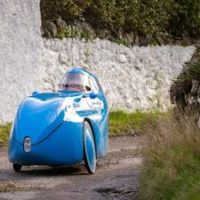 Biker gets on his blue velomobile for 600km charity cycle