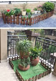 Carbonized Antiseptic Wooden Pile Fence Garden Wood Fencing Balcony Courtyard Decoration Flowerbed Wood Fence Garden Buildings Fencing Trellis Gates Aliexpress