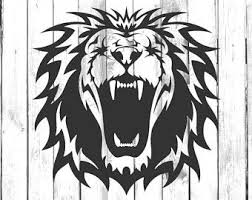 Lion Decal Etsy