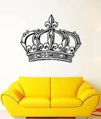 Amazon Com V Studios Wall Decal Crown King Power Kingdom Emperor Sceptre Mural Vinyl Decal Vs325 Home Kitchen