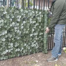 Aleko 94 X 39 Faux Ivy Privacy Fence Screen Artificial Fencing Outdoor Decor
