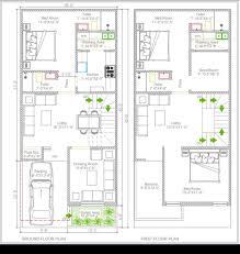 20x45 3bhk duplex floor plan 20x40