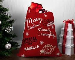 Santa Sack Iron On Decals Santa Sack Diy Santa Sack Christmas Gift Td Gift Solutions Com