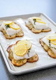 Lemon Roast Fish With Potatoes Recipe ...