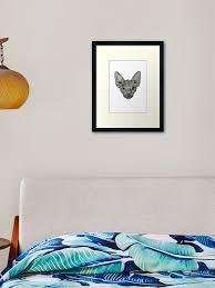 Sphynx Cat Aria Framed Art Print By Croccreations Redbubble