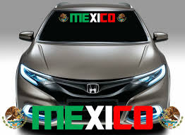 1x Mexican Flag Racing Decal Mexico Flag Decal Coat Of Arms Me112 Car Decals Stickers Flag Decal Vinyl Decal Stickers