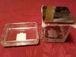 bella lux crystal glass bathroom set