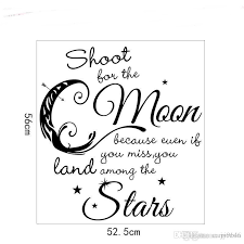 Shoot For The Moon Even If You Miss Land Among The Stars Nursery Quote Wall Decal Moon Stars Decor Nursery Wall Sayings Butterfly Wall Decals Butterfly Wall Stickers From Carrierxia 3 02