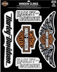 Harley Davidson Window Cling Sheet H D Shout Out Dw1109 Harley Davidson Decals Harley Davidson Harley
