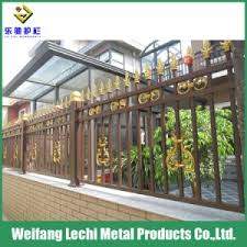 China High Security Rust Assitance Aluminum Decorative Metal Garden Border Fence China Fence Aluminum