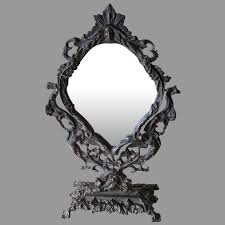 antique victorian gothic mirror with