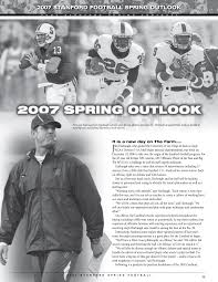 2007 Stanford football Spring oUtlook