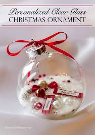 clear glass ornament gift