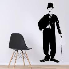 Charlie Chaplin Wall Decal Famous Hollywood Actors Wall Vinyl Etsy