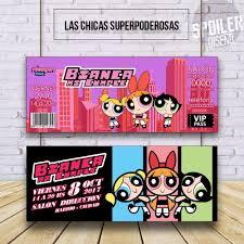 Invitaciones Tarjetas Cumpleanos Chicas Superpoderosas 6