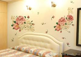 Luxury Peony Flowers Wall Stickers Art Home Decor Pvc Removable Vinyl Wall Decals For Kids Living Room Decorations Wall Art And Stickers Wall Art Applique From Qwonly Shop 3 9 Dhgate Com