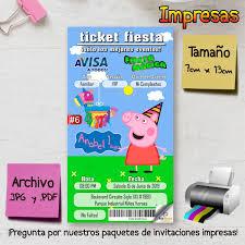 Peppa Pig Invitacion Digital Imprimible 29 00 En Mercado Libre