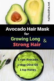 diy avocado hair mask for growing