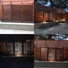 Flowerburst1 Metal Privacy Screen Decorative Panel Outdoor Garden Fence Art Privacy Screen Decorative Panels Fence Decor