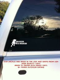 God Bless Our Soldiers Military War Car Auto Truck Window Vinyl Decal Sticker Oracal Laptop Vinyl Decal Vinyl Decals Window Vinyl