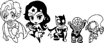 Superman Decal Wonder Woman Superhero Chibi Family Vinyl Sticker Car Bumper 10 Ebay