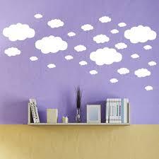Lovehome 27pcs Diy Clouds Wall Decals Children S Room Home Decoration Art Walmart Com Walmart Com