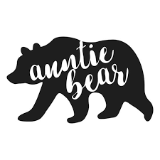 Auntie Bear Decal Etsy