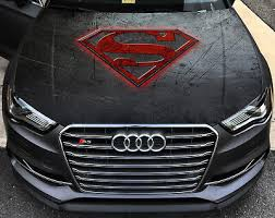 Vinyl Car Hood Wrap Color Graphics Decal Superman Logo Man Of Steel Sticker Ebay