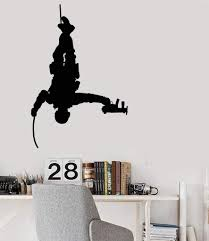 Vinyl Wall Decal Army Soldier With Weapons War Marine Stickers 2444ig Wallstickers4you