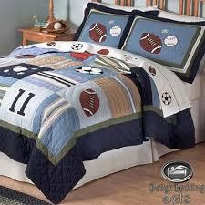 sport football quilt theme bedding set