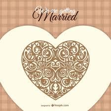 carte d invitation de mariage vecteur