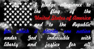 Pledge Of Allegiance Flag Thin Blue Line Thin Red Line Window Etsy