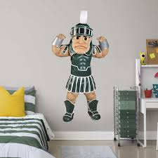 Fathead Michigan State Spartans Sparty Mascot Life Size Officially Licensed Removable Wall Decal Walmart Com Walmart Com