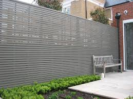 Painted Slatted Panels Privacy Fence Designs Garden Fence Panels Fence Design