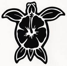 Sea Turtle Plumeria Flower Hawaii Car Truck Window Vinyl Decal Bumper Sticker Vinyl Decal Stickers Vinyl Decals Car Bumper