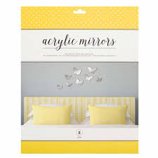 Vinyl Adhesive Roll Wall Decal Mirror Butterflies American Crafts