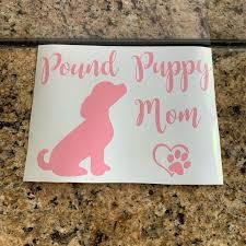 Other Pound Puppy Mom Car Window Decal Sticker Pink Poshmark