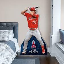 Mike Trout Stand Out Officially Licensed Mlb Removable Wall Decal