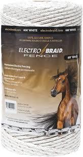 Electrobraid Pbrc600w2 Eb Horse Fence Conductor Reel 600 Feet White Amazon Ca Patio Lawn Garden