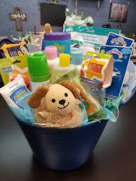 newborn baby boy gift basket in milan
