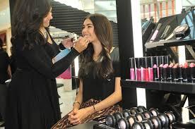 mac cosmetics makeup application