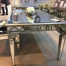 mirrored antique trim 1 8m dining table
