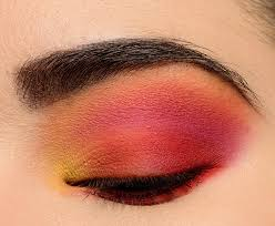 a bright sunset eye with makeup geek