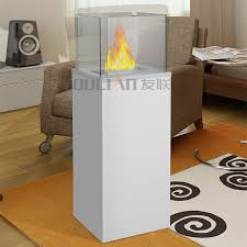 freestanding ethanol fireplace with